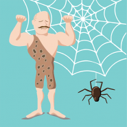 A Spider and A Muscle Man